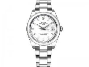 115200 Rolex Oyster Perpetual Date 34 White Dial Lady