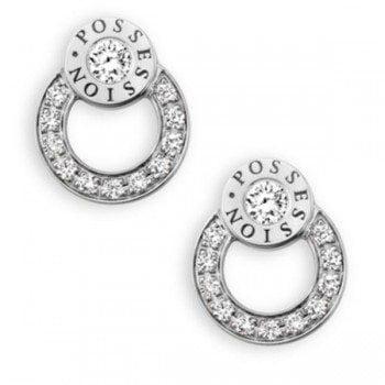 Piaget Possession Diamond 18K White Gold Stud Earrings
