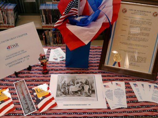 Jacksonville Library Constitution Week Display