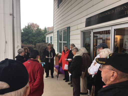 Veterans Day in front of Military Museum