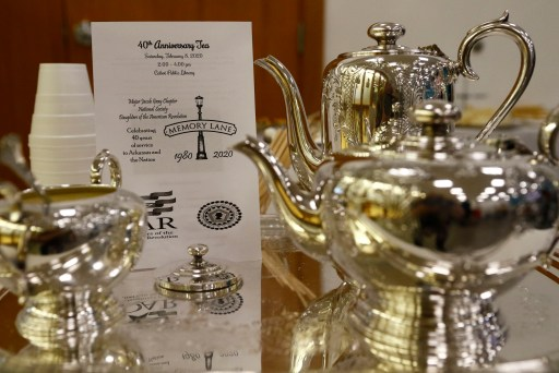 Tea Set used during the Chapter's 40th Anniversary Tea