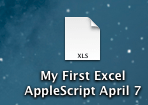 Saving an Excel Sheet with Date using Applescript