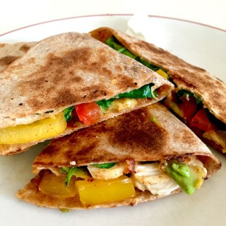 Southwest Chicken and Veggie Quesadilla