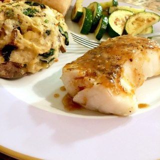 Pan-Seared Sea Bass with Orange Maple Glaze