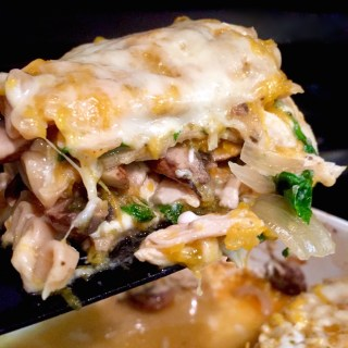 Butternut Lasagna with Mushrooms, Spinach, and Chicken