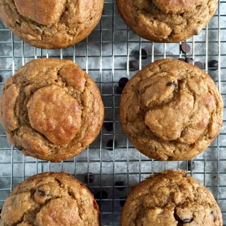 Healthy Buttermilk Banana Chocolate Chip Muffins