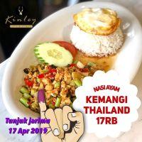 Kinley Thai Bistro Medan: Pilpres Indonesia Voters Reward @KinleyBistro Tunjukan jari tintamu dan dapatkan DISKON 56% Nasi Ayam Kemangi Kinley dgn harga hanya 17rb - promo berlaku khusus satu hari pada 17 Apr 2019 dan utk makan ditempat - 1 jari 1 promo - harga blm termasuk pajak - no service charge - boleh bayar dgn OVO cash back - Kinley Bistro di Sun Plaza lt.4, Thamrin Plaza Lt.7 dan Vespark jln Hm Yamin - cek IG @KinleyBistro . Informasi promo juga telah di broadcast ke LINE jangan lupa add LINE @KinleyBistro ada kupon promo lainnya . Baca