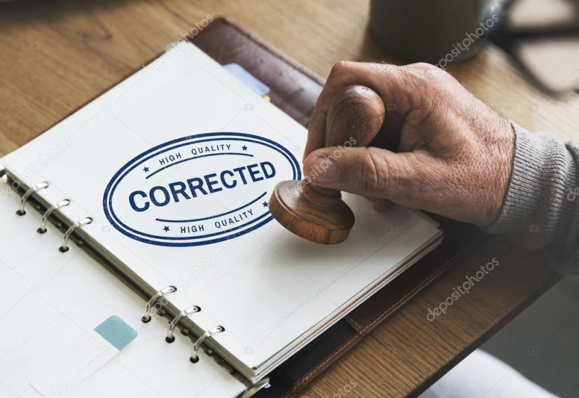 Step-by-step on how to correct your name, wrong details on