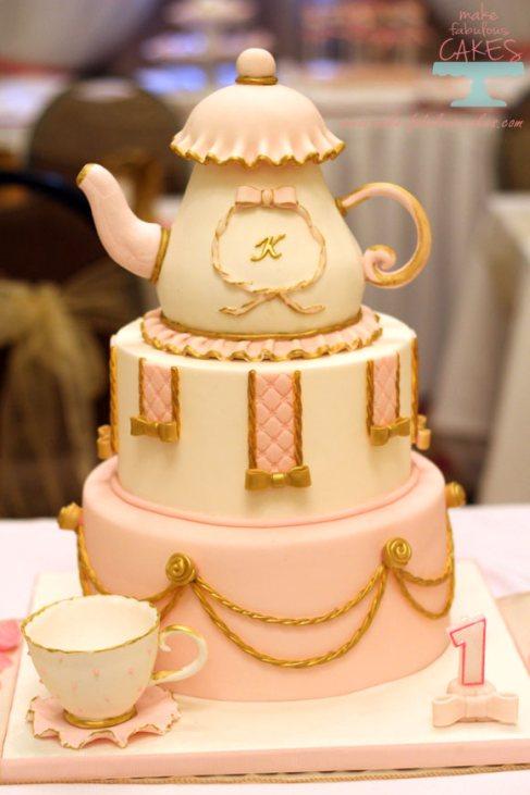 Pink and Gold Princess Tea Party