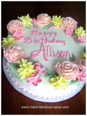 Make A Flower Birthday Cake