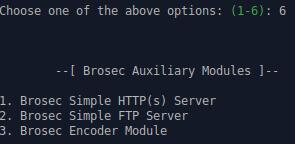 Brosec — интерактивный инструмент для использования полезных нагрузок и команд