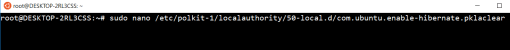 Как перевести Ubuntu в режим гибернации(сна)?
