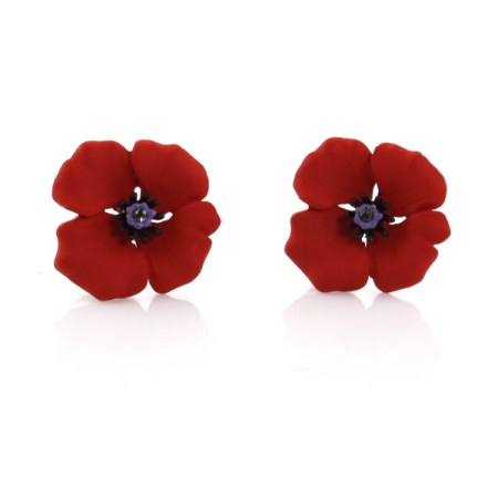 One of the Rodney Holman poppy collection jewellery pieces