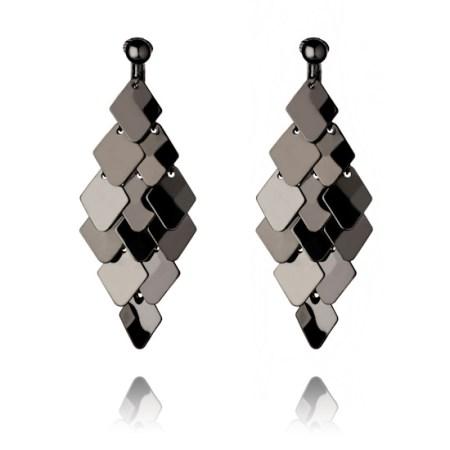 Gunmetal Plate Chandelier Clip On Earrings