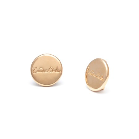 Zandra Rhodes for Adele Marie Iconic Button Clip On Earrings - Gold