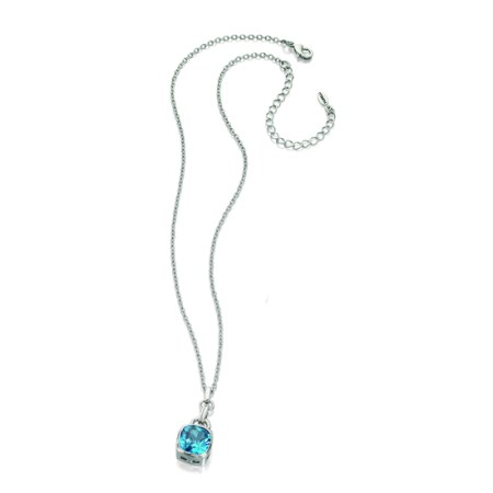 Fiorelli Blue Cubic Zironia Square Necklace