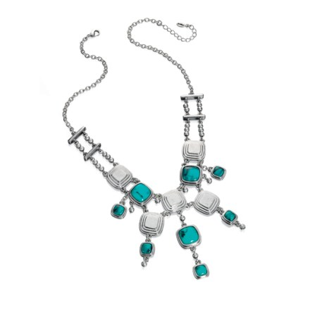Fiorelli Large Fringe Turquoise Necklace