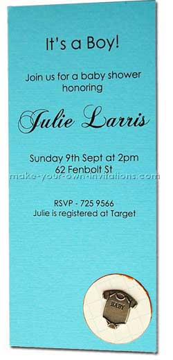 How Make My Own Baby Shower Invitations