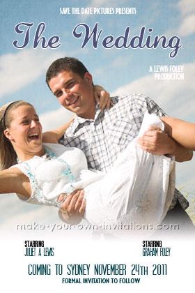 Nic Studio Poster Wedding Invitations Via Oh So Beautiful Paper 2
