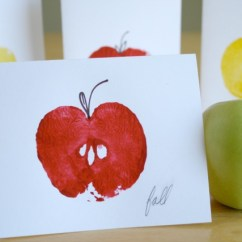 Green Apple Kitchen Decor 60 Inch Table Stamped Cards For Back To School | Make And Takes