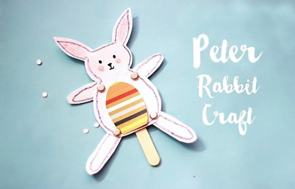 Peter Rabbit Craft - 5 Of our Favorite Children's Rabbit Books and Crafts - Sharing our favorite books and one adorable craft to go with each book. Perfect for Easter and International Rabbit Day.
