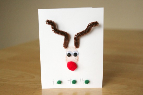 Rudolph The Red Nose Reindeer Thumbprint Cards Make And
