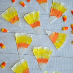 Kitchen Fan Cover White Buffet Coffee Filter Candy Corn Craft | Make And Takes
