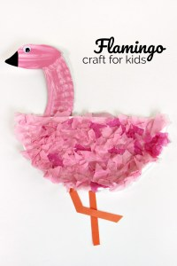 Easy Paper Plate Flamingo Craft for Kids | Make and Takes