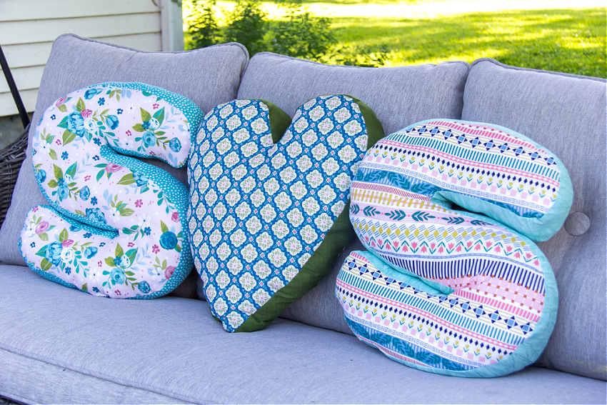 how to make a diy letter pillow make