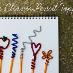 Kitchen Chicken Decor How Much Does Remodel Cost Back To School Diy: Pipe Cleaner Pencil Toppers | Make And ...