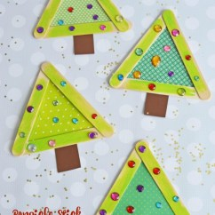 Kid Craft Kitchen Flooring For Kitchens Popsicle Stick Christmas Trees | Make And Takes