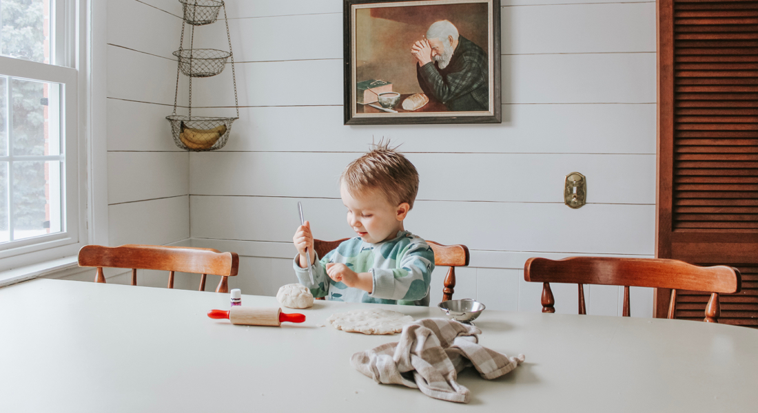 playing-with-diy-essential-oil-playdough