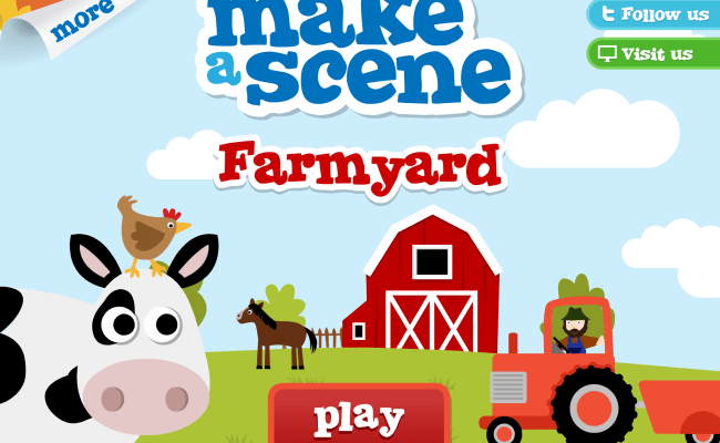 Farmyard Make A Scene Educational Sticker Apps For Children