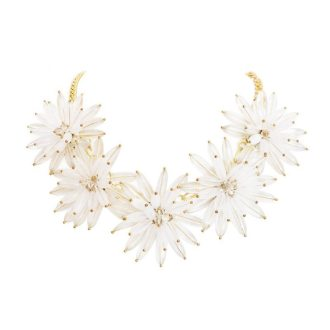 comprar collar flores transparente