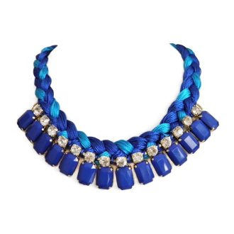 comprar online collar trenzado azul
