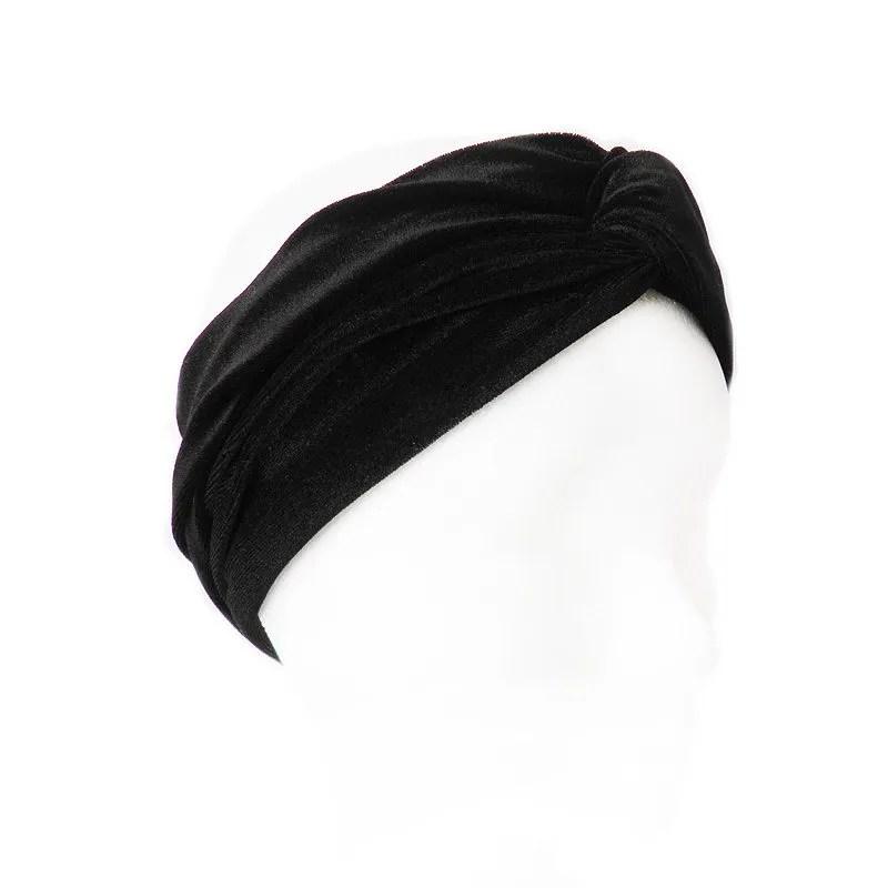 cómo hacer pedidos auténtico volumen grande DIADEMA TERCIOPELO NEGRA | Comprar turbante online