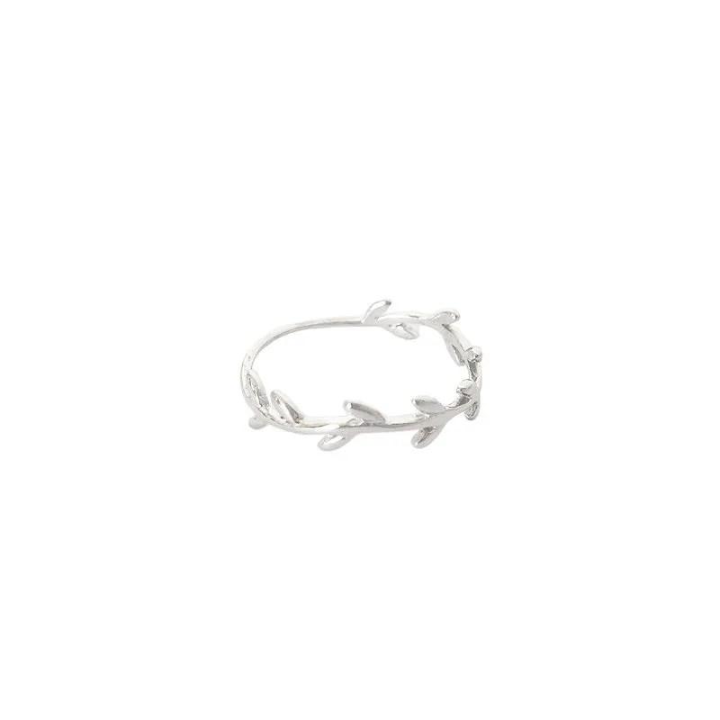 anillo rama plata