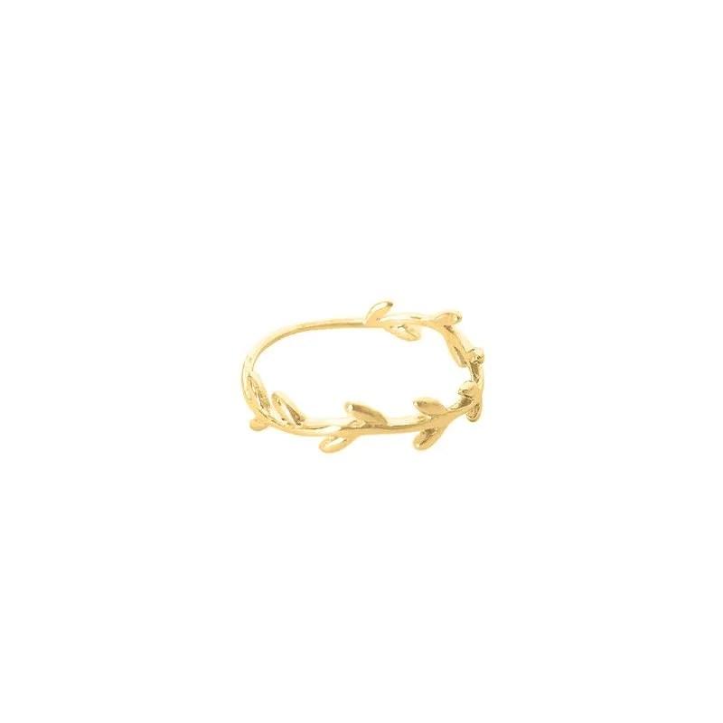 anillo rama oro