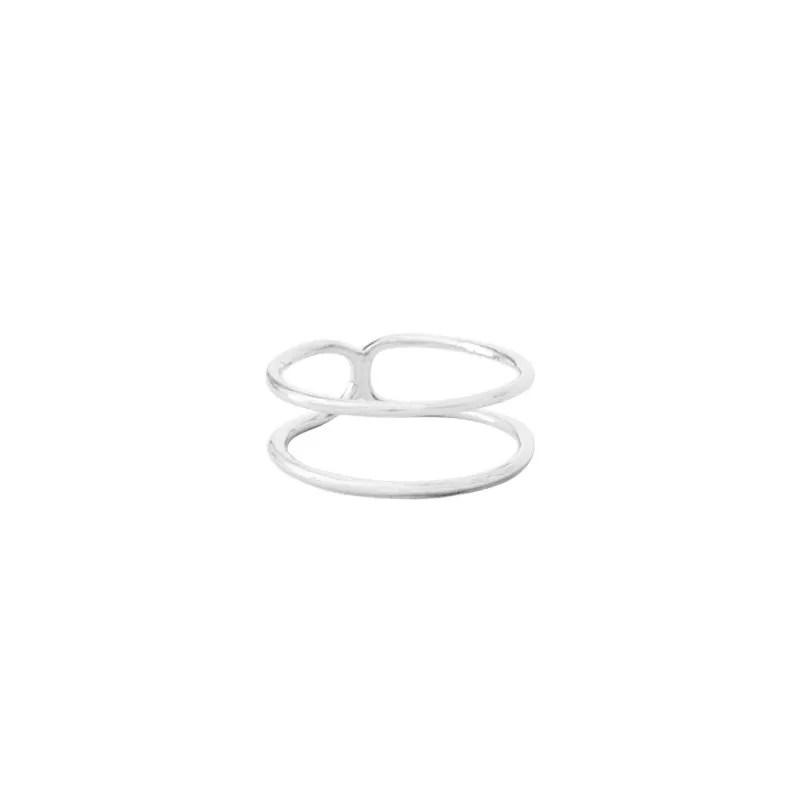 anillo doble plata