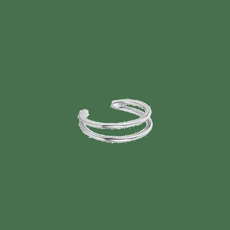 Anillo de dos bandas ajustable en la parte trasera