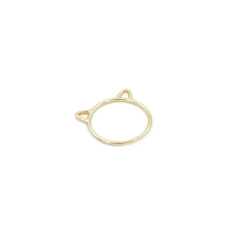 anillo gato dorado, anillo cat, anillo con orejitas, anillo osito