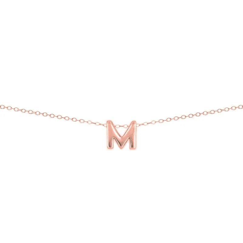 Colgante inicial personalizado en oro rosa