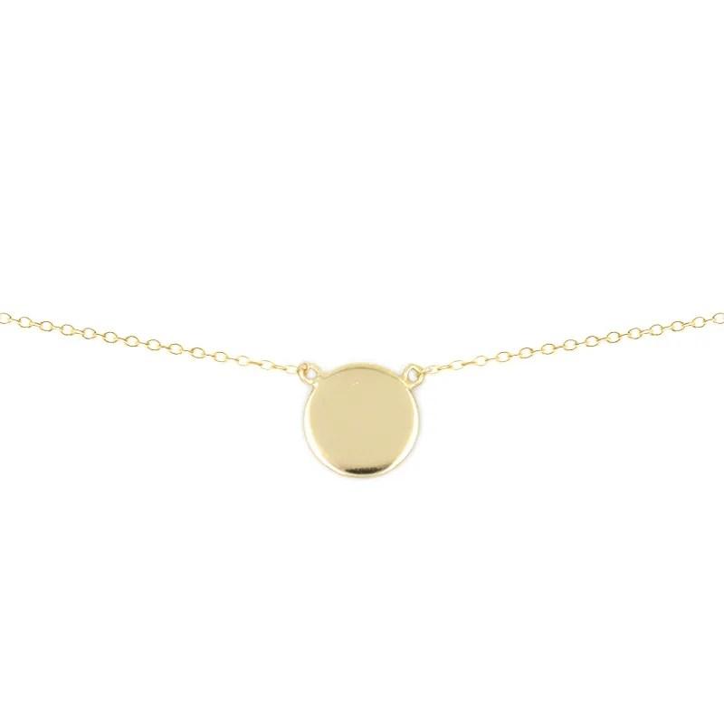 Colgante círculo liso oro