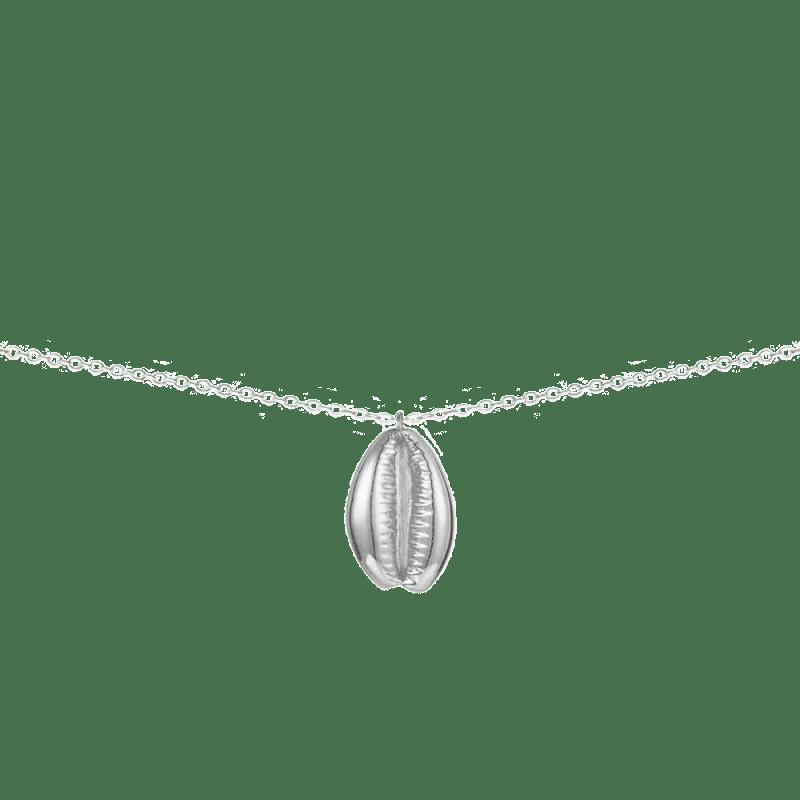 Collar con colgante concha en plata para verano 2019