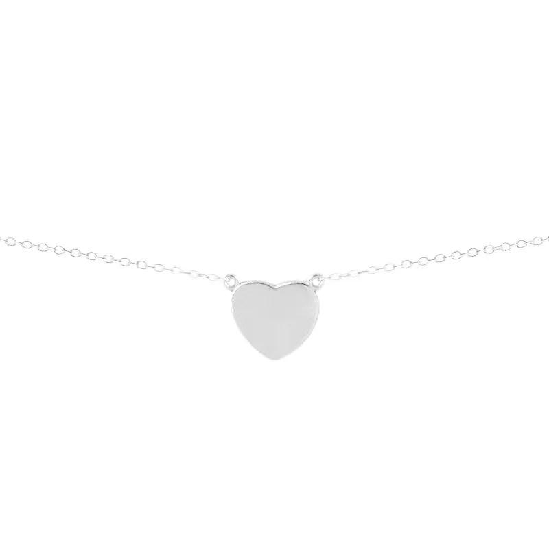 Colgante de corazón en plata