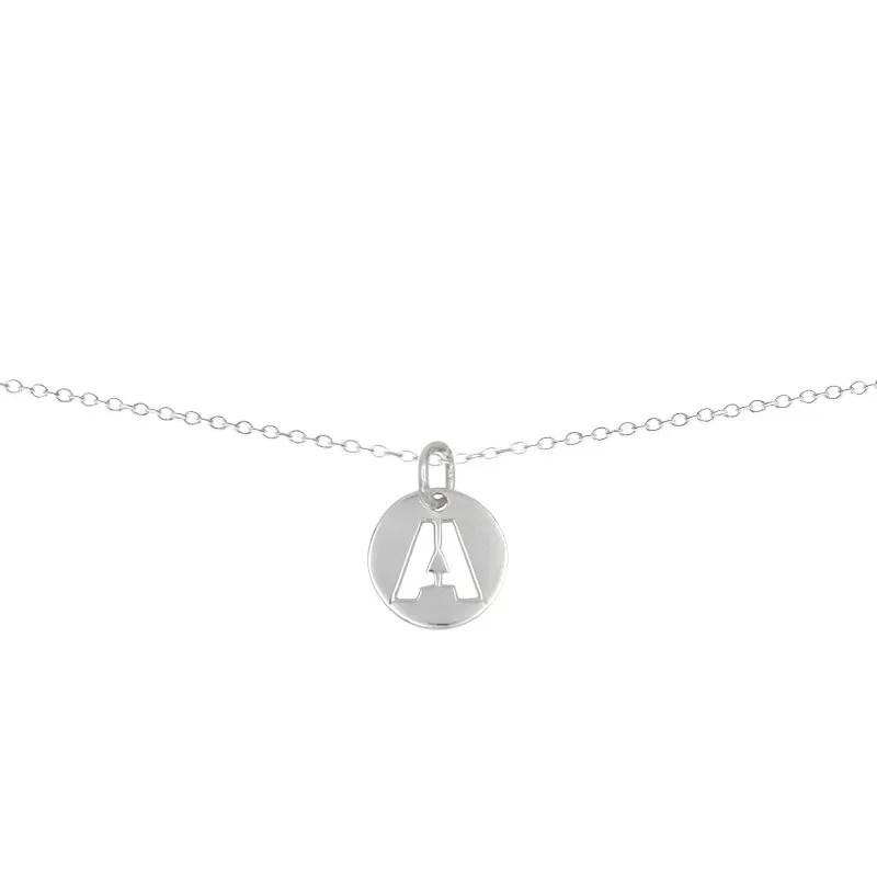 collar incial letra plata