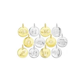 colgante signo del zodiaco en plata de ley con circonita