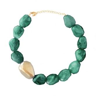 Collar piedras verde