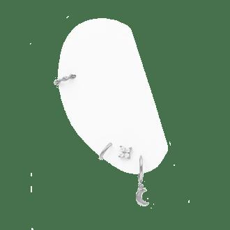 Combinación de pendientes en plata de ley