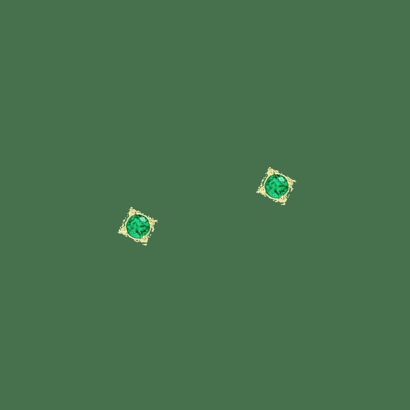 Pendientes verdes de tamaño pequeño